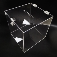 Clear Donation Suggestion Box With Clasp Acrylic Wedding Cards Storage Box