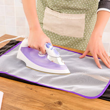 1/2pcs High Temperature Resistance Ironing Scorch Heat Insulation Pad Mat Household Protective Mesh Cloth Cover in 2 Sizes Hot(China)
