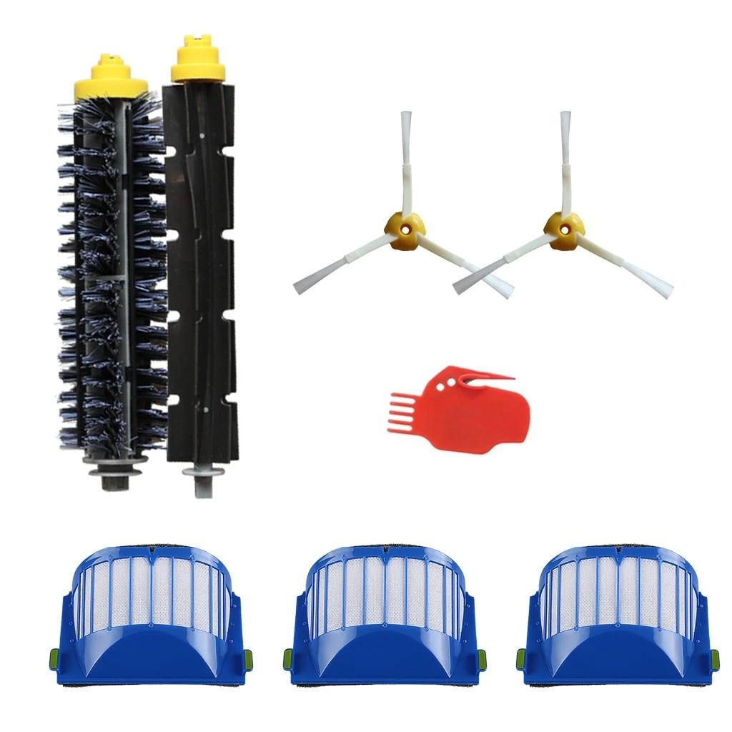 Robot vakum filtreler kiti tekerlek 500 600 700 800 900 serisi elektrikli  süpürge yedek parçaları Robot vakum temizleme araçları|Cleaning Brushes