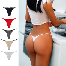 Ladies Thongs New Version Customized Thin Strap Sexy Briefs Low Waist Double Bikini Cotton Women Panties Nylon Lingerie 245