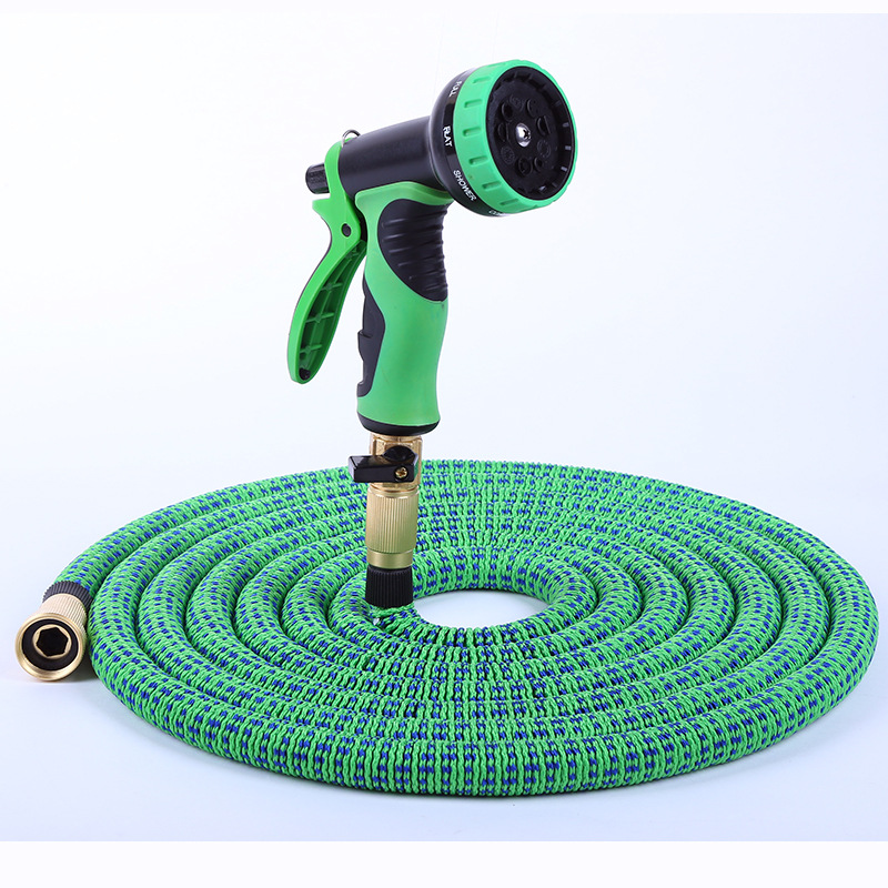 2019 New Products Pipe Double Color Natural Rubber Household Garden Vehicle Cleaning Water Torch Three Times Telescopic Pipe Who