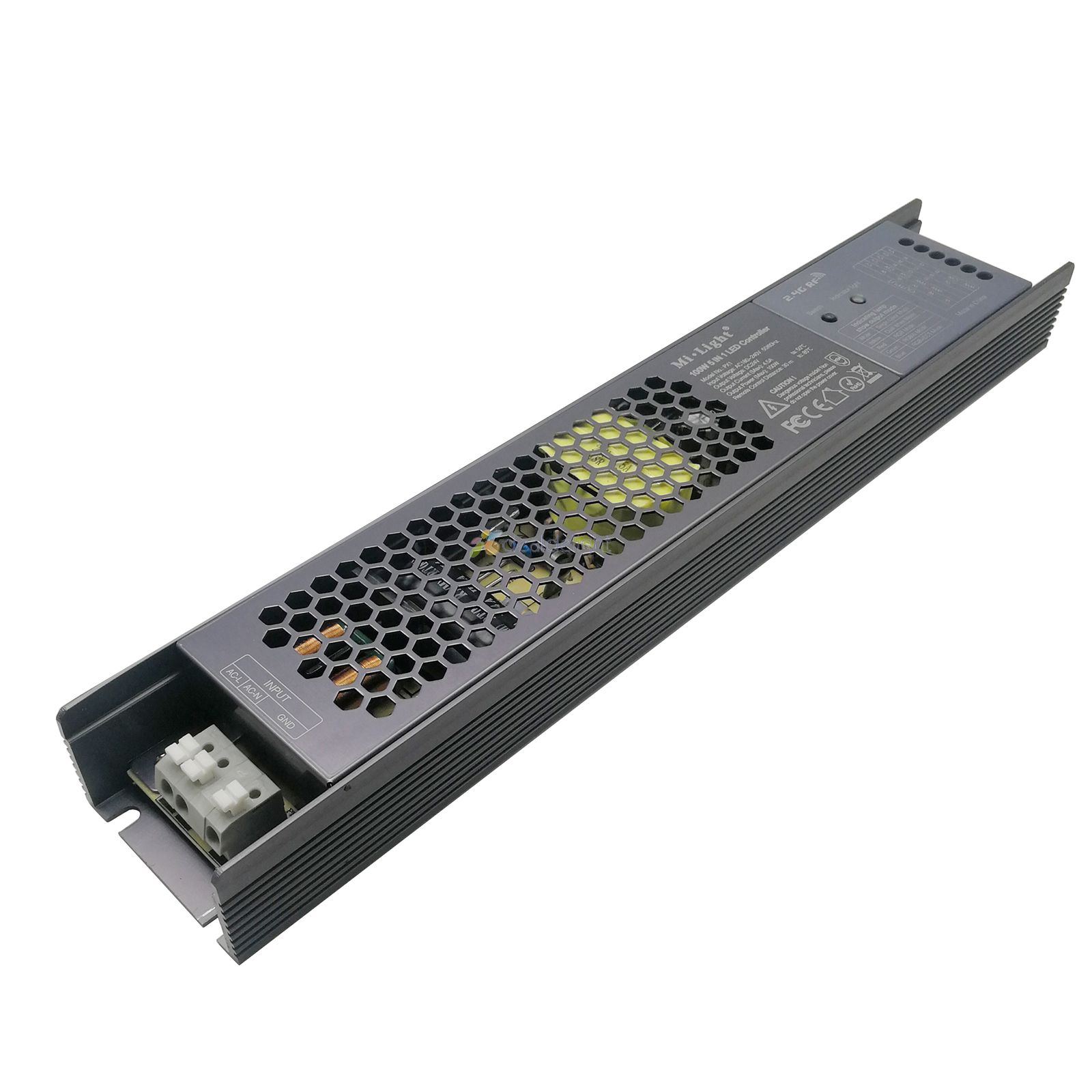 Miboxer 100W <font><b>5</b></font> IN <font><b>1</b></font> LED Controller PX1 <font><b>2</b></font>.4G RF/APP/alexa Goolge Control Built-in driver Controller For DC24V LED strip light image