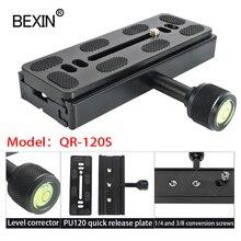QR120 morsetto adattatore per fotocamera morsetto a sgancio rapido morsetto per montaggio su piastra lunga morsetto per teleobiettivo per fotocamera a treppiede standard Arca