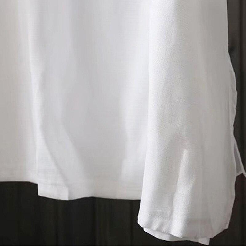 Summer Casual White Linen Mini Tank Dress Women Sexy Deep V Solid Color A Line Dresses Sleeveless Loose Plain Vest Dress Custom