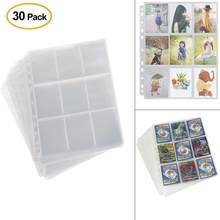 30pc Waterproof Wallets Album Pages Collection 270 Pockets Trading Gaming Card Sleeves Storage 2.7x3.6inches &c(China)