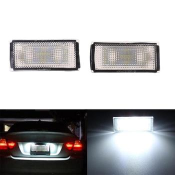 2Pcs Error Free 18 LED Number License Plate Light For BMW E66 E65 7-Series 735i White X7JF
