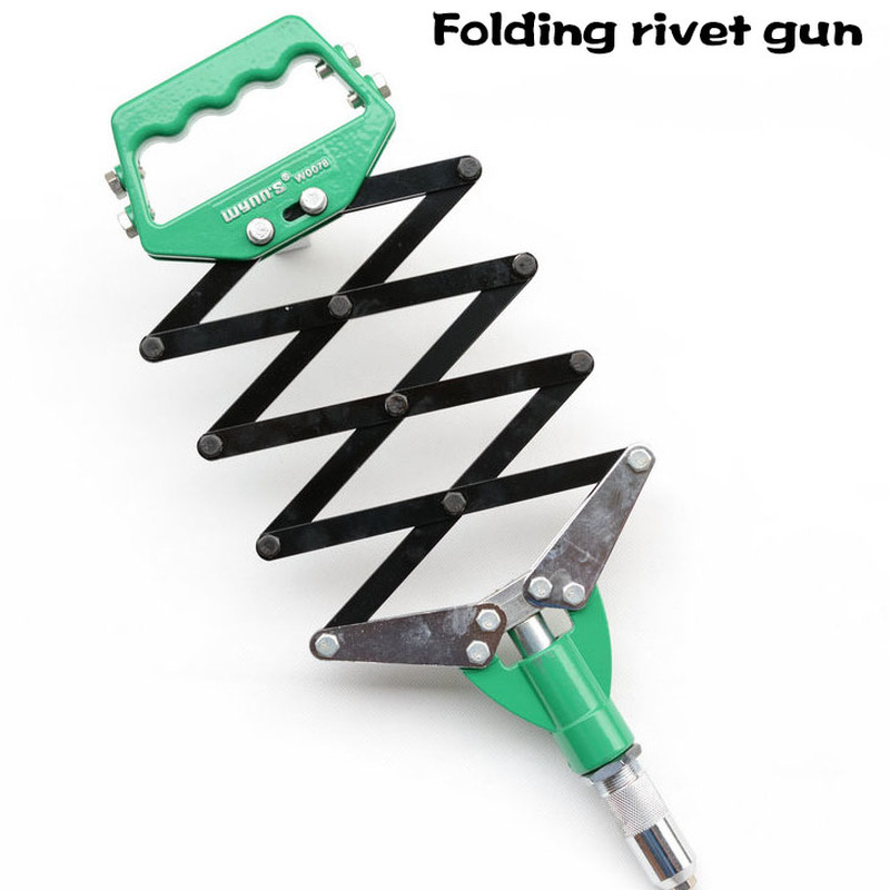 Industrial Grade W0078 Heavy Duty Rivet Gun Aluminum Alloy One-hand Operation Folding Rivet Gun Manual Riveter