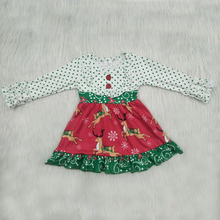 Long Sleeve 0-8 Years Girl Baby Dress Newborn Toddler Christmas Deer Party Dresses Winter Girl Casual Clothes Vestido Infantil bbwowlin baby girl dresses suits vestido infantil for 0 2 years kids christmas birthday party 9071