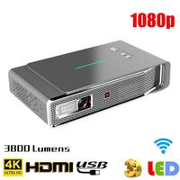 Original TOUMEI V5 3D 4K HD Projector Smart WIFI Video Home Cinema Projector 5G Dual Band WiFi 16G Dolby Sound Chinese / English
