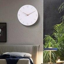New Wood Clock Modern Minimalist Nordic Living Room Home Decoration Accessories Fashion Atmosphere Mute Quartz Wall Clocks