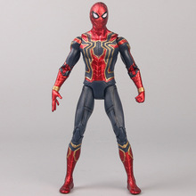 17cm avengers super hero Spider man PVC Action Figure toys Spider-man doll Spiderman Collection Model Doll Toys for kid Gift marvel universe hero pa change peter jackson s king wolf joint diy do model doll goods of for display rather for toys gift