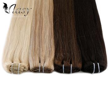 Vlasy 7 teile/satz Maschine Made Remy Menschliches Haar Voller Kopf Gerade Clip In Menschliches Haar Extensions 20