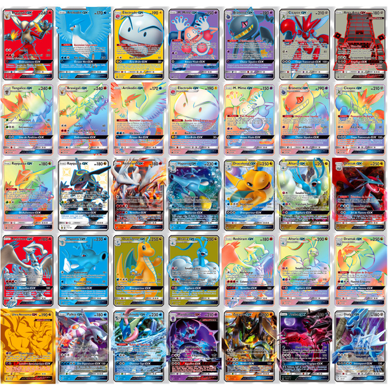 Funny French English Pokemon Cards Gx MEGA Shining Cards Game Battle Carte Trading Cards Kaarten Children Pokemons Toy