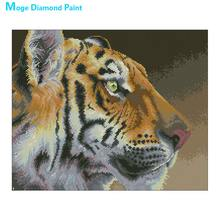 animal tiger Moge Diamond Painting Full Round New DIY Toy sticking drill cross stitch 5D embroidery simple home decorative