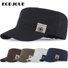 2019 Military Cap Men For Men Flat Top Hat Vintage Hat Cadet Military Patrol