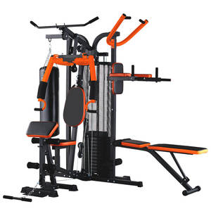 Home-Fitness-Equipment Multi-Functional Home Gym Standing Muscle-Strength Three-Person