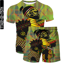 Summer Ancient egyptian God Oil Paint 3D Men s T shirt Shorts Set ManSportswear Tracksuit O Neck Casual Short Sleeve Male Suit