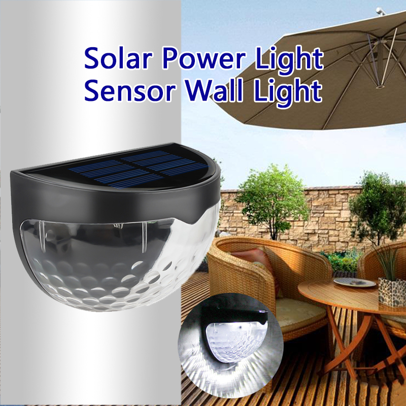 LED Solar Light Waterproof Solar Power Wall Lamp luz solar Charge Auto ON/OFF Outdoor Garden Patio Fence Lamp