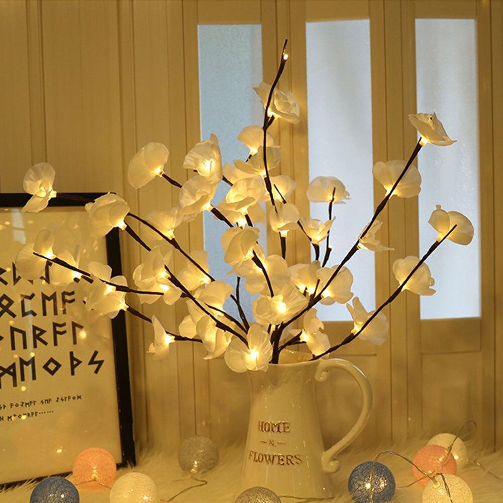 Table Artificial Led Wedding Adjustable Branch Garden 20 Bulbs Christmas Decor Phalaenopsis Flower Lights Home Bedroom Party