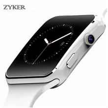 ZYKER Smartwatch X6 Touch Screen Smart Watch with Camera Support SIM TF card Call Bluetooth Smartwatch for iPhone Android Phone fashion u11c bluetooth smartwatch leather strap for samsung iphone htc call answering dial media players u8 sim card support