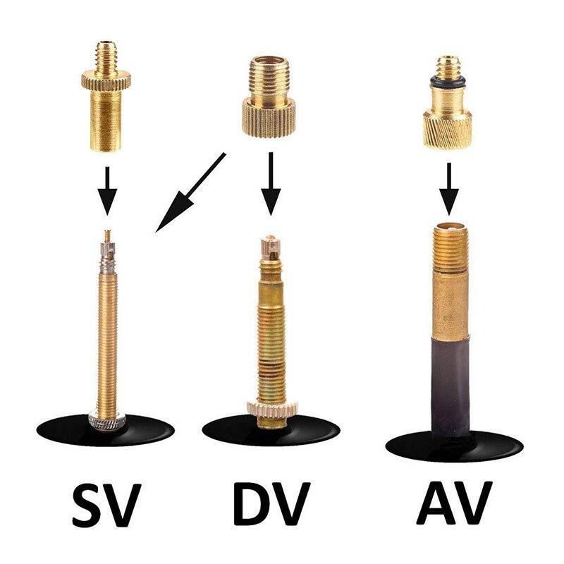 Bike Bicycle Bike Pump Adapters Set Wth SV//AV//DV Bicycle Pump Parts 24pcs
