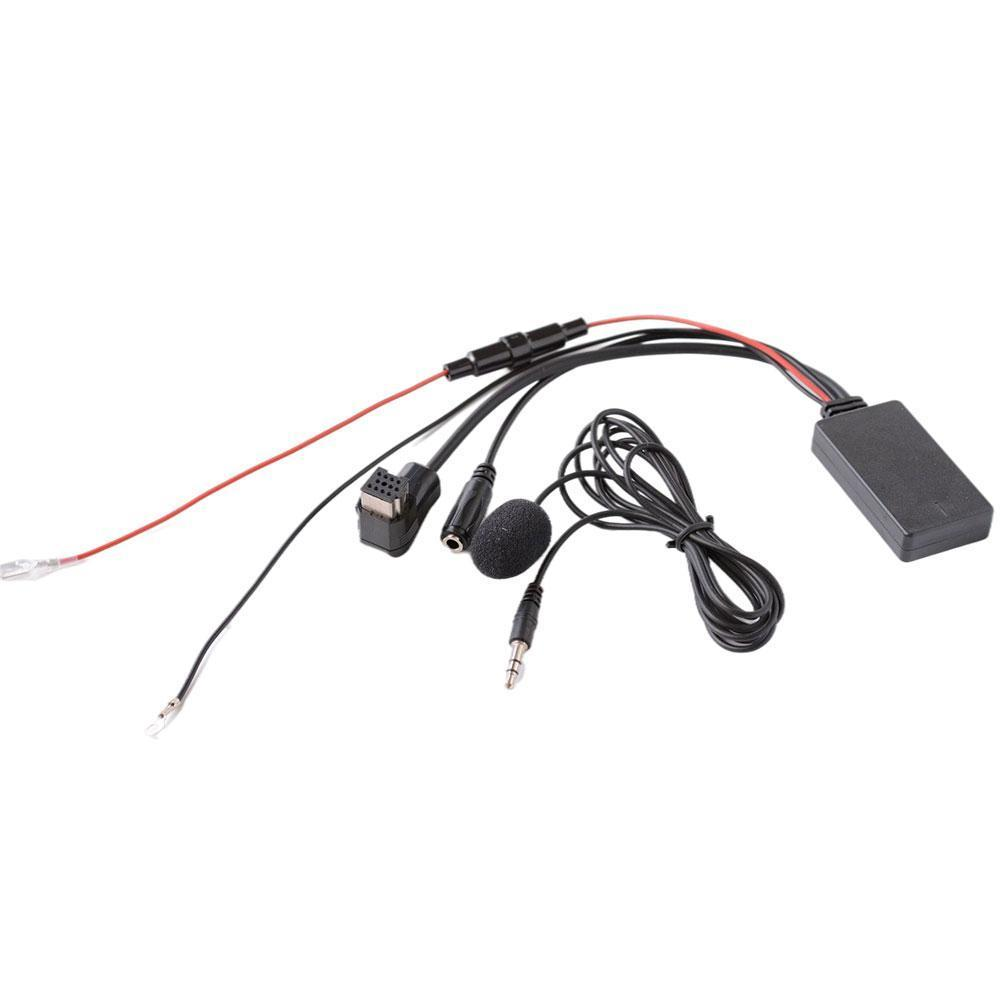1PC AUX Cable Car Bluetooth AUX Adapter Wireless Audio Phone Call Hands Free Microphone With Fuse Protection Device