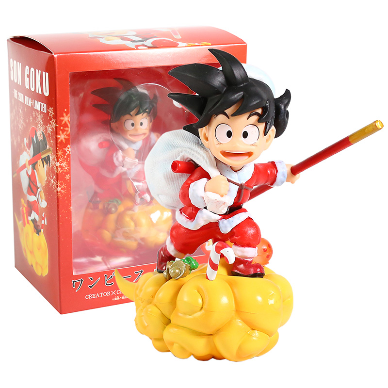 Dragon Ball Z Santa Son Goku On Somersault Cloud PVC Figure Collectible Model Toy