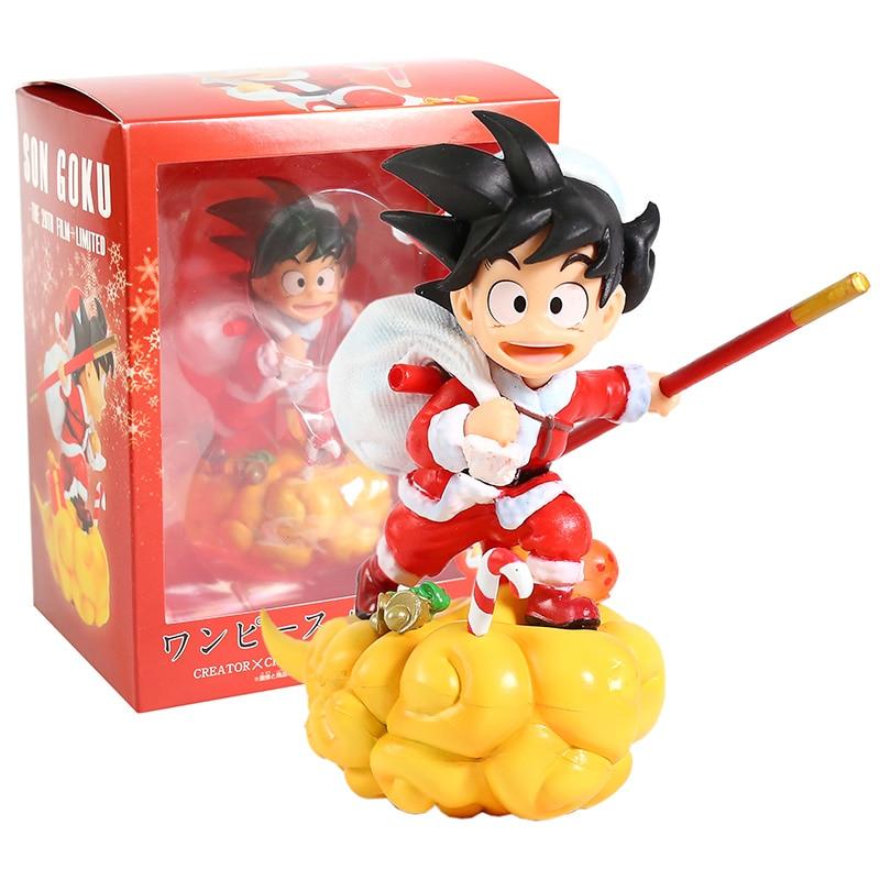 Dragon Ball Z Santa Son Goku On Somersault Cloud PVC Figure Collectible Model Toy