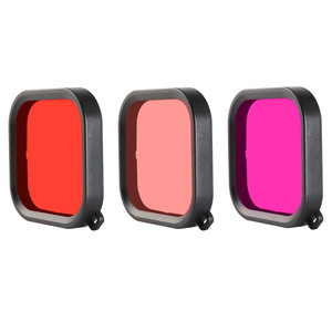 Image 2 - 60M Waterproof Case Filter Diving swimming Protective Shell Purple Pink Red len Filter For GoPro Hero 8 Black Action Camera