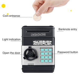 Image 3 - Electronic Piggy Bank ATM Password Money Box Cash Coins Saving Box ATM Bank Safe Box Automatic Deposit Banknote Christmas Gift