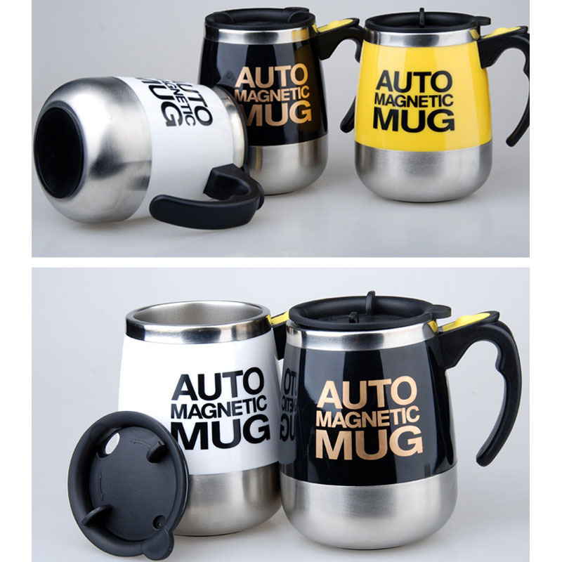H51fa43996c004458b1c0ade0188218f97 New Automatic Self Stirring Magnetic Mug Creative 304 Stainless Steel Coffee Milk Mixing Cup Blender Smart Mixer Thermal Cup