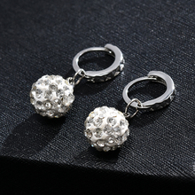New Brand Crystal Ball Earrings For Women Wedding Party Dangle Earring Fashion Jewelry ER813