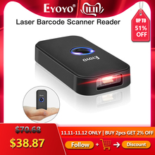 Eyoyo EY 009L 3 in 1 Bluetooth USB Wired&Wireless 1D Barcode Scanner Bar Code scaner Reader for Mac Android iOS Tablet Computer