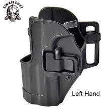 SINAIRSOFT CQC HK USP kemer taktik kılıfı siyah kürek sağ veya sol el tabanca Gun kılıf için HK kompakt USP