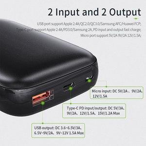 Image 4 - Essager 10000mAh باور بانك صغير 10000 شحن سريع 3.0 باور بانك صغير لهاتف شاومي Mi USB C PD شاحن بطارية خارجي محمول