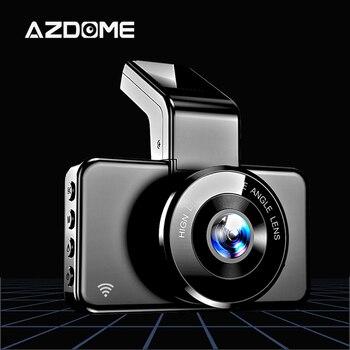 AZDOME M17 1080P Dash Cam WIFI 170 Degree Wide Car Camera 24H Parking Monitor Video recorder Dual Lens Night Vision Dashcam mini 2 4k 2160p 1080p fhd car dvr dash cam camera 60fps 170 degree car video recorder wifi gps night vision dashcam w rear cam