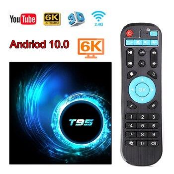 T95 H616 Andriod TV Box 6K HD Andriod 10.0 Set Top TV Box Netflix Youtube 3D Google Set TV Box Stream Media Player Smart TV Box