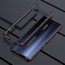 Oppo reno 2 케이스 금속 프레임 더블 컬러 알루미늄 범퍼 보호 커버 oppo reno 2 reno2 전화 케이스