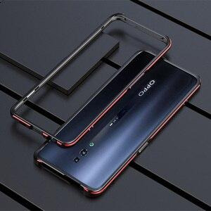 Image 1 - Oppo reno 2 케이스 금속 프레임 더블 컬러 알루미늄 범퍼 보호 커버 oppo reno 2 reno2 전화 케이스