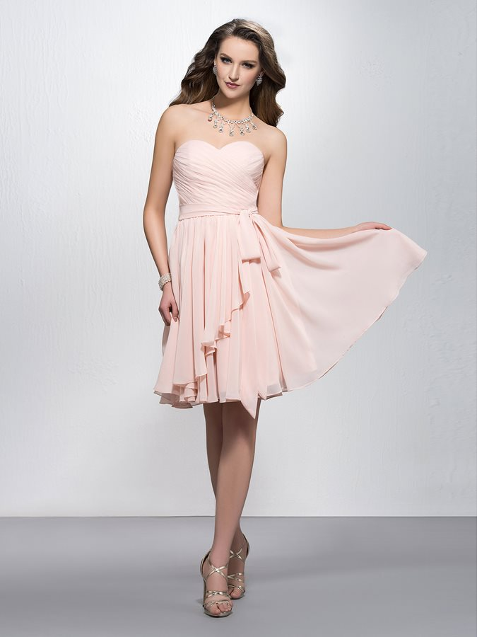 New   Bridesmaid     Dresses   2019 Simple Sweetheart Pleats Knee-Length   Bridesmaid     Dress   Party Gowns Vestidos De Festa