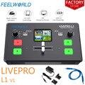 Feelworld переключатель прямой трансляции Livepro L1 V1 смеситель для видео HDMI многоформатный режим предварительного просмотра студийной записи для...