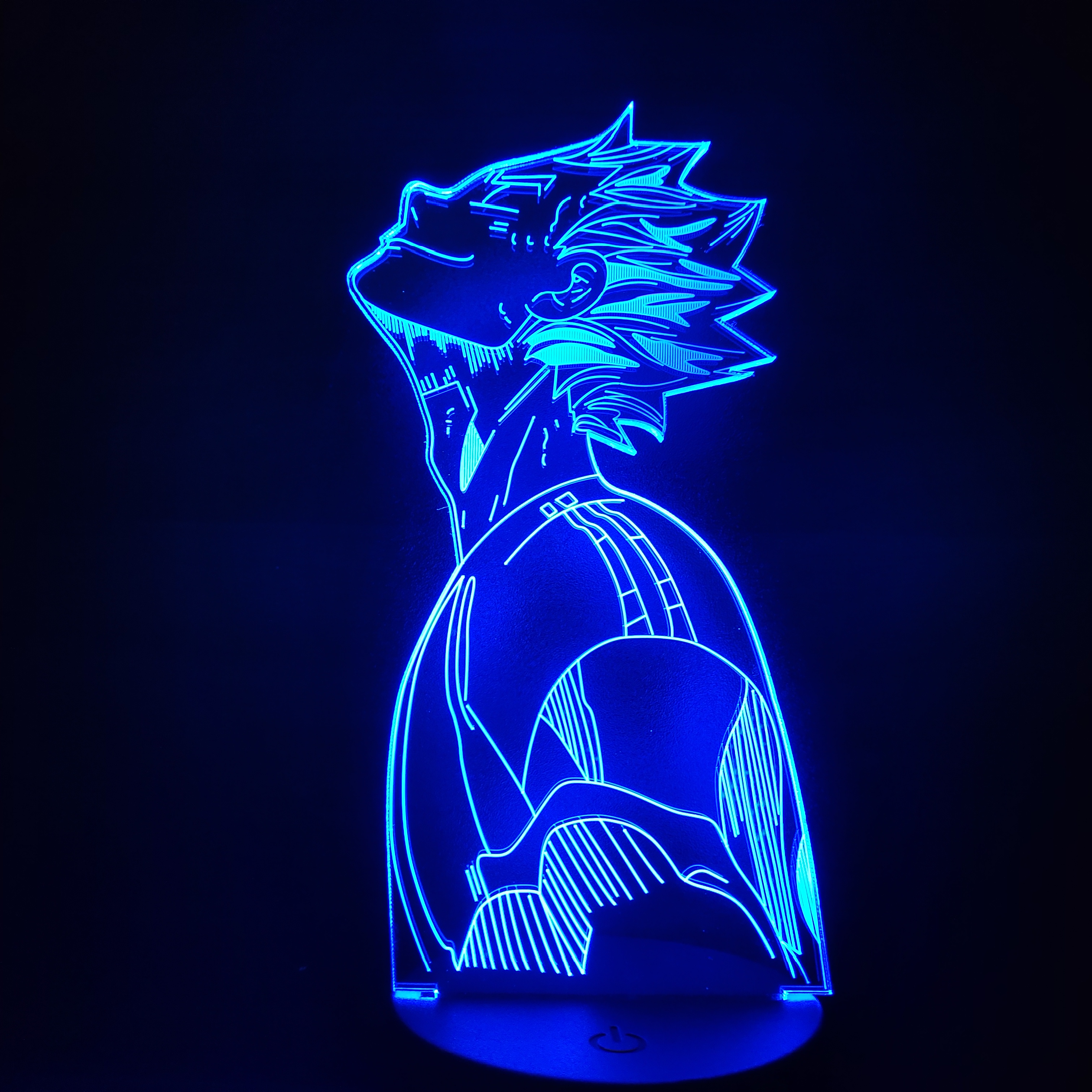 Haikyuu Bokuto 3D Led Anime Illusion Nightlights Led Color Changing Table Lamp for Home Decor Led Lights for Bedroom