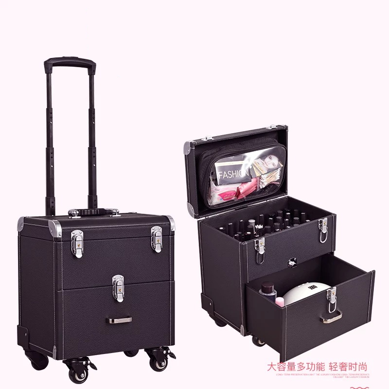 Suitcases Toolbox Makeup Trolley Rolling-Luggage Nail-Tattoo Women Wheel New With Multifunction