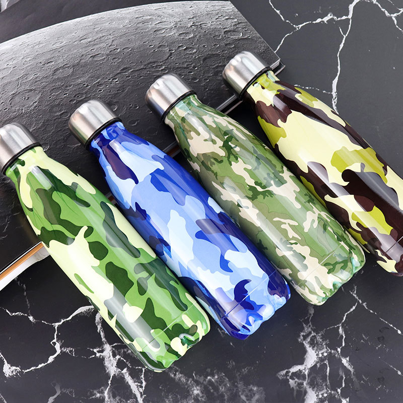 Water Bottle Camouflage Floral Water Bottles Starry Sky Thermos Travel Mug Leak proof Drink Bottle Running Protein Shaker Coffee in Water Bottles from Home Garden