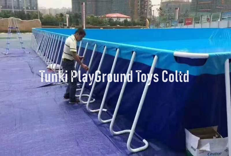 Inflatable Rectangular Metal Frame portable Swimming Pools