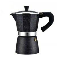 YRP Herd Espresso Kaffee Maker Schwarz Aluminium Moka Kaffee Topf Maschine Latte Mokka 6 Tasse Percolator Topf barista werkzeuge filter Kaffeepott Heim und Garten -