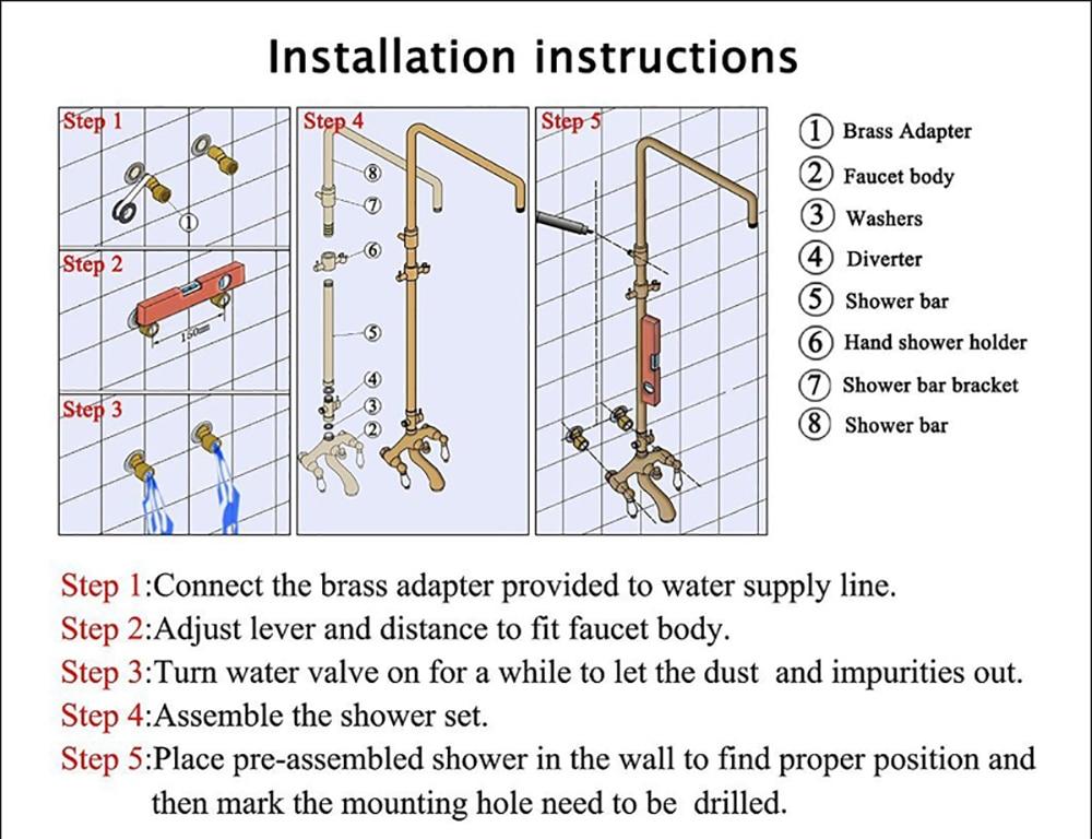 H51fafd72736941df9e0a2c50e3be5691k POIQIHY Black Bathroom Shower Faucet Set Wall Mount Black 8''Rainfall Shower Head With Handheld Sprayer Bathtub Shower Mixer