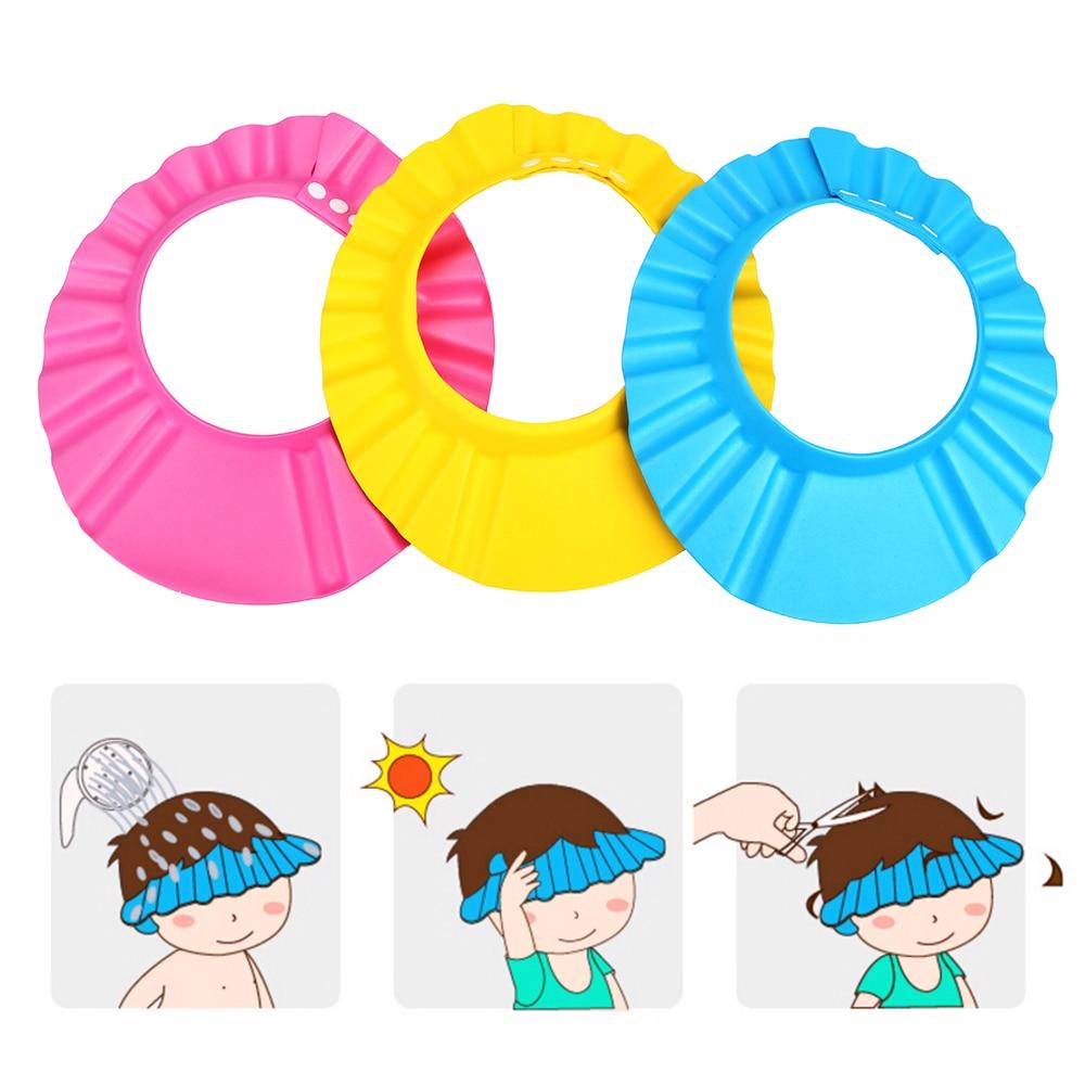Baby Shampoo Cap Children Kids Protect Soft Cap Adjustable Wash Hair Shield Bathing Bath Shower Cap Hat Kid Shower Accessory