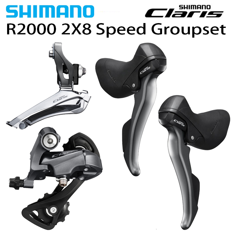 <font><b>Shimano</b></font> Velocity <font><b>Claris</b></font> <font><b>R2000</b></font> 2x8 3 Pcs Groupset Groupset Bicycle Bicycle St <font><b>R2000</b></font> <font><b>R2000</b></font> Fd Rd <font><b>R2000</b></font> image