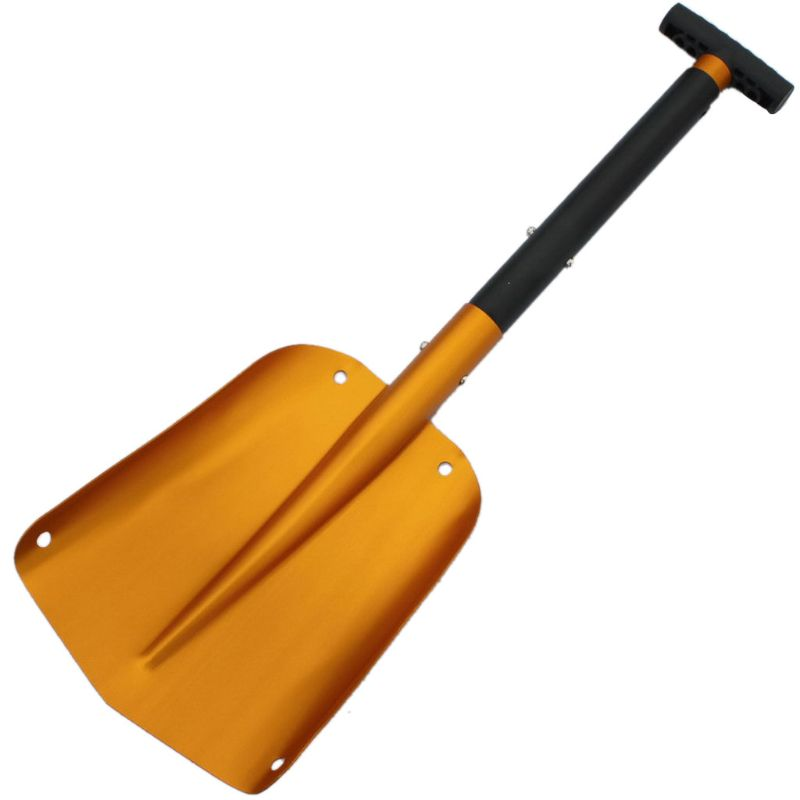 Retractable Snow Shovel Aluminum Lightweight Shovel Detachable Two-piece Construction, Gold, Used For Shoveling Snow Removing